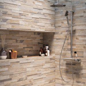 Effet relief pour la salle de bain