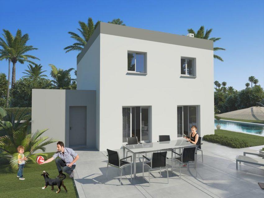 Maison moderne pas chère modèle RHEA disponible en toit-terrasseMa Villa Moins Chère