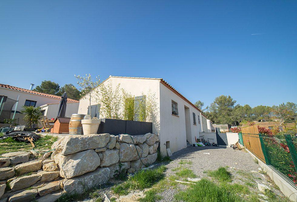 maison contemporaine à Narbonne dans l'Aude (Occitanie)
