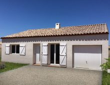 villa contemporaine à Herepian 34600 dans l'hérault en région Occitanie